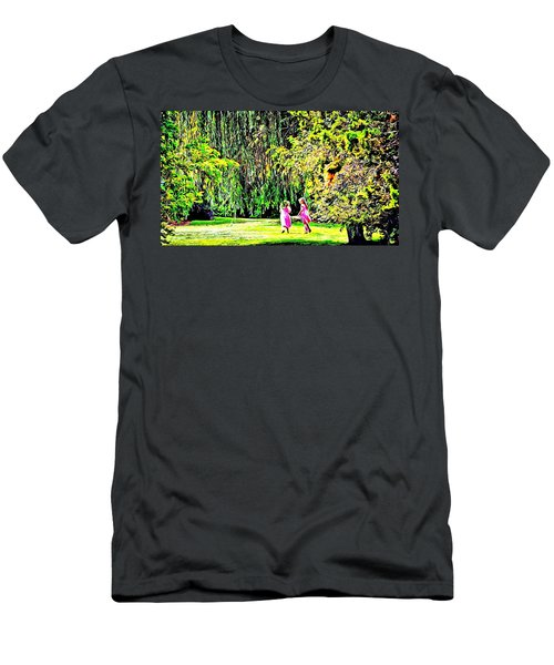 Men's T-Shirt (Slim Fit) featuring the photograph When We Were Young II by Barbara Dudley