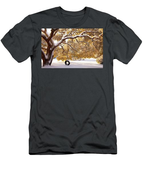 Men's T-Shirt (Slim Fit) featuring the photograph When Winter Blooms by Karen Wiles