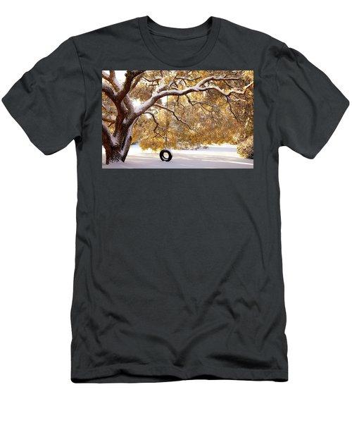 When Winter Blooms Men's T-Shirt (Slim Fit) by Karen Wiles