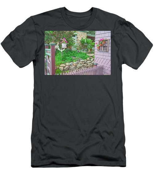 When You're In Idaho Springs, Colorado, Have A Beer With Us In Our Backyard. Cool Your Pipes Here. Men's T-Shirt (Athletic Fit)