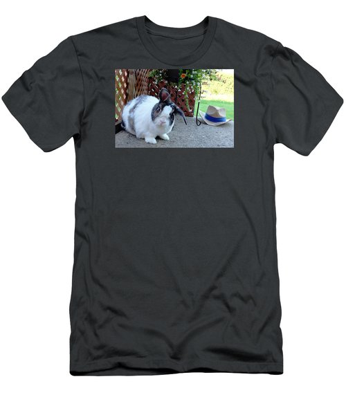 Men's T-Shirt (Slim Fit) featuring the photograph Where Is My Hat? by Vicky Tarcau