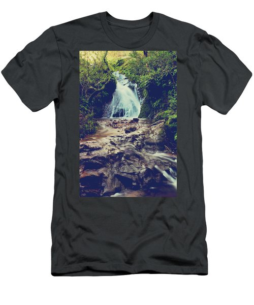 Men's T-Shirt (Slim Fit) featuring the photograph Where It All Begins by Laurie Search