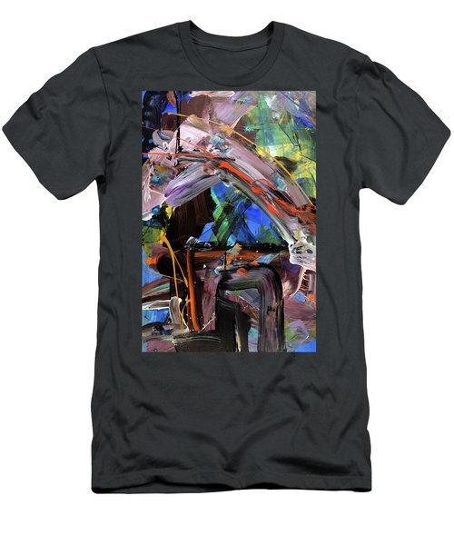 Where The Smiles Roam Abstract  Men's T-Shirt (Athletic Fit)