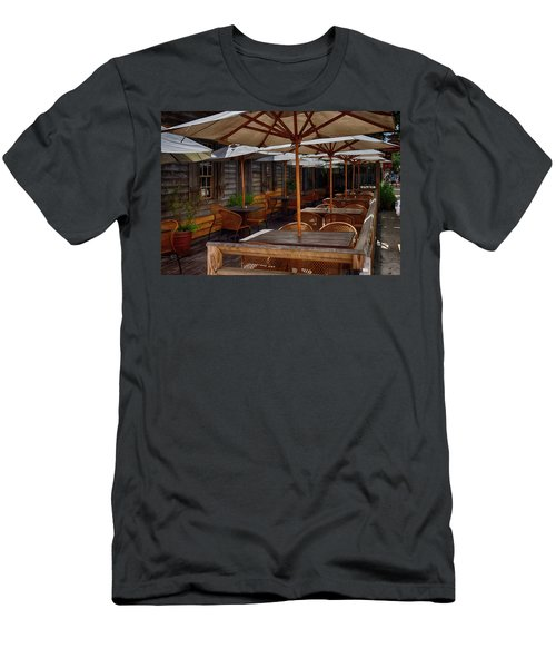 Where To Sit.... Men's T-Shirt (Slim Fit) by Tricia Marchlik