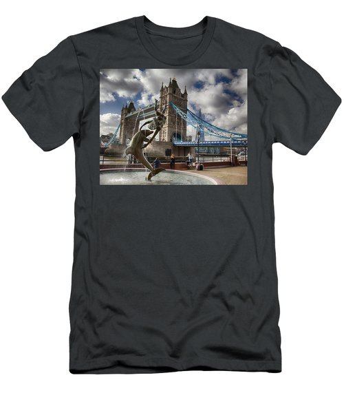 Whimsy At Tower Bridge Men's T-Shirt (Athletic Fit)