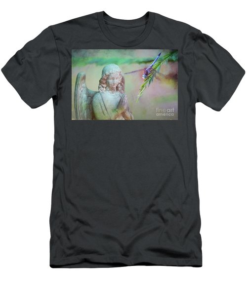 Men's T-Shirt (Slim Fit) featuring the photograph Whisper Of Angel Wings by Bonnie Barry