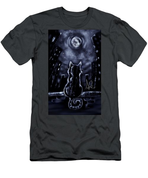 Whispering To The Moon Men's T-Shirt (Athletic Fit)