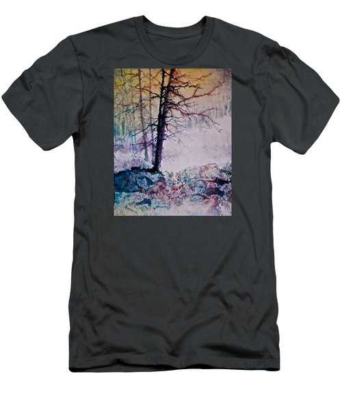 Men's T-Shirt (Slim Fit) featuring the painting Whispers In The Fog by Carolyn Rosenberger