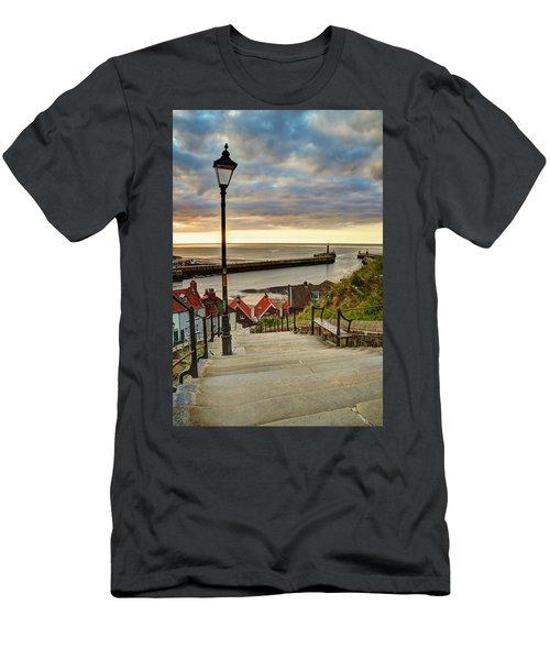 Whitby Sun Set Men's T-Shirt (Athletic Fit)