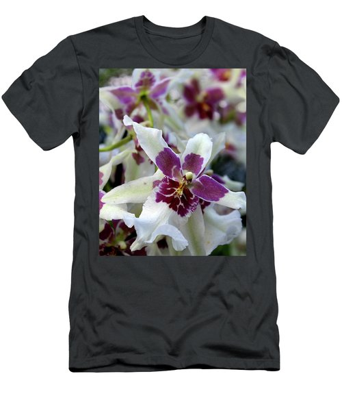 Purple And White Orchid Men's T-Shirt (Athletic Fit)