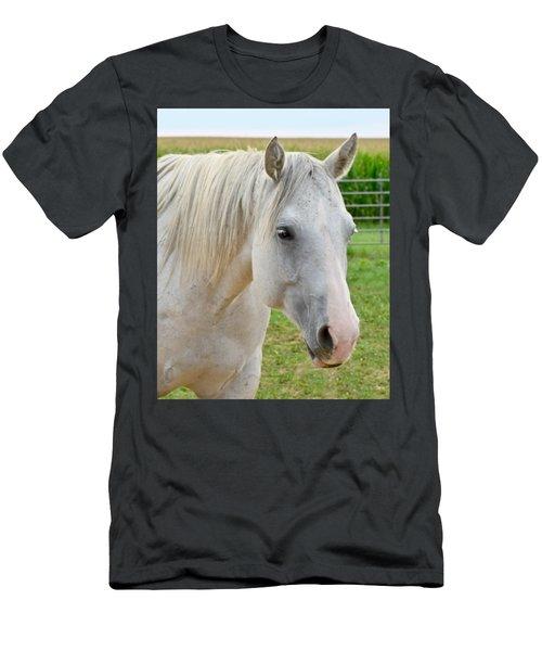 White Beauty Men's T-Shirt (Athletic Fit)