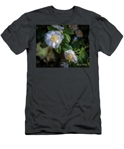 Men's T-Shirt (Slim Fit) featuring the photograph White Camelia 02 by Gregory Daley  PPSA