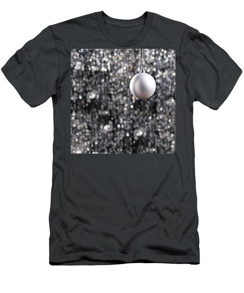 Men's T-Shirt (Slim Fit) featuring the photograph White Christmas Bauble  by Ulrich Schade