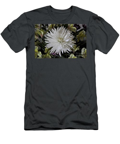 White Chrysanthemum Men's T-Shirt (Athletic Fit)
