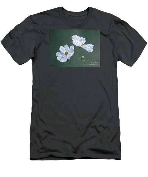 White Cosmos Men's T-Shirt (Slim Fit) by Phyllis Howard