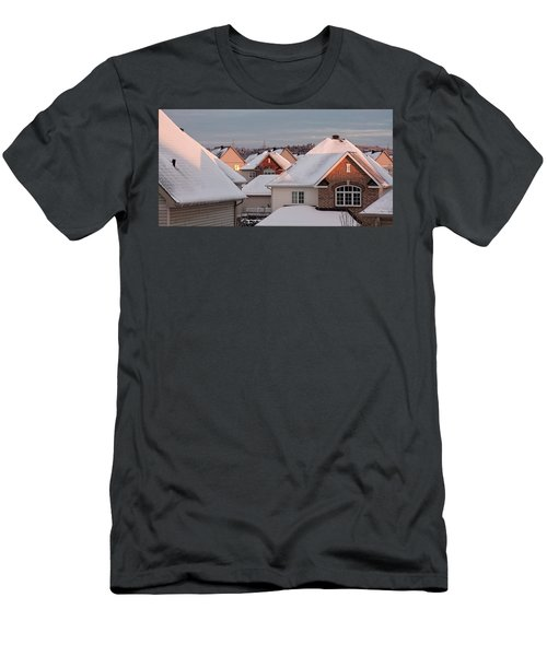 White December Rooftops Men's T-Shirt (Athletic Fit)
