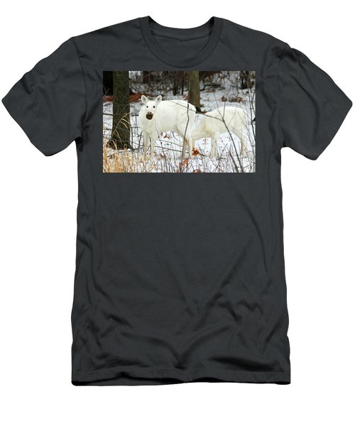 White Deer With Squash 3 Men's T-Shirt (Athletic Fit)