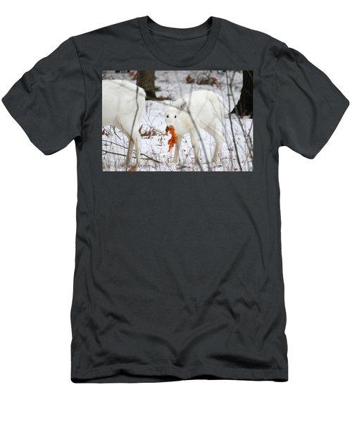 White Deer With Squash 5 Men's T-Shirt (Slim Fit) by Brook Burling