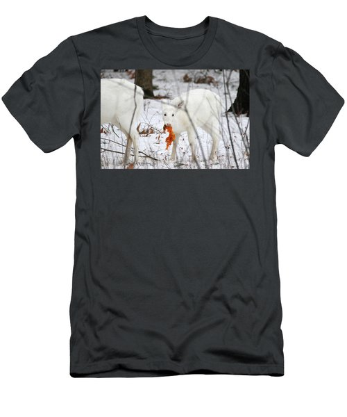 White Deer With Squash 5 Men's T-Shirt (Athletic Fit)