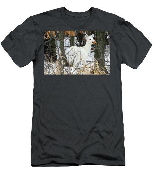 White Doe With Squash Men's T-Shirt (Slim Fit) by Brook Burling