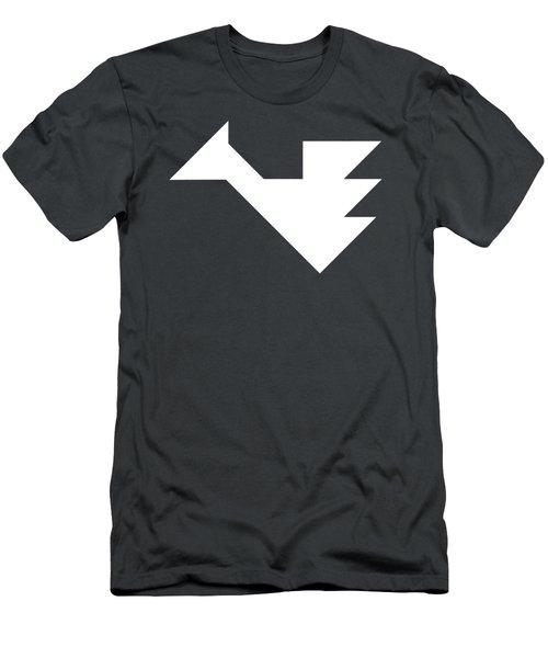 White Dragon Tangram Men's T-Shirt (Athletic Fit)
