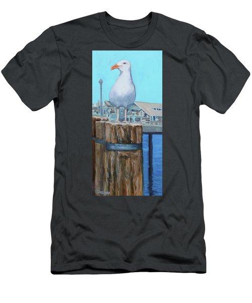 White Gull Men's T-Shirt (Athletic Fit)