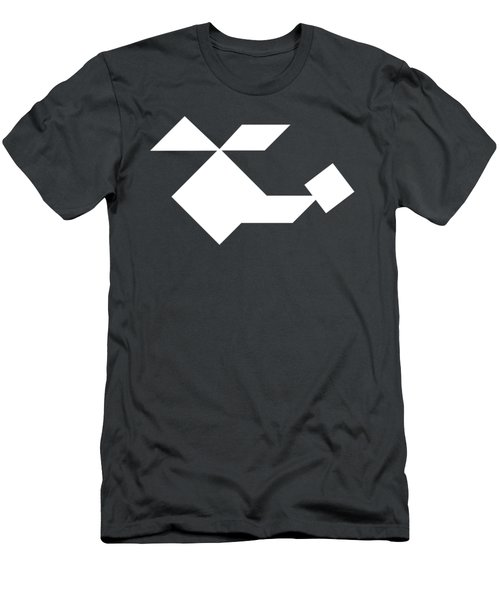 White Helicopter Tangram Men's T-Shirt (Athletic Fit)