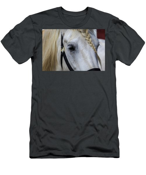 White Work Horse Men's T-Shirt (Athletic Fit)