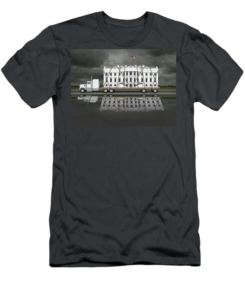 White House Being Delivered Men's T-Shirt (Athletic Fit)