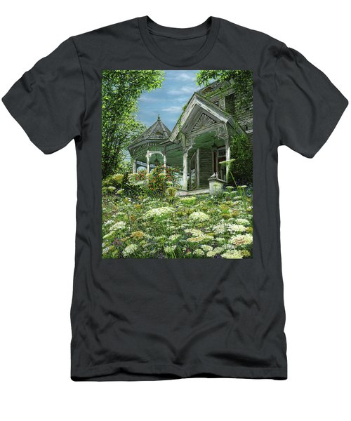 Men's T-Shirt (Slim Fit) featuring the painting White Lace And Promises Abandoned by Doug Kreuger