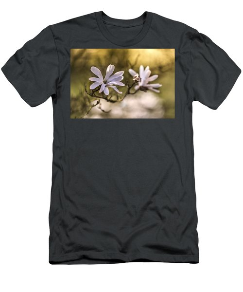 Men's T-Shirt (Athletic Fit) featuring the photograph White Magnolia by Jaroslaw Blaminsky