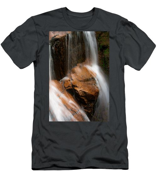 Men's T-Shirt (Slim Fit) featuring the photograph White Mountains Waterfall by Jason Moynihan