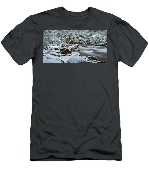 White On Green Men's T-Shirt (Slim Fit) by Mark Lucey
