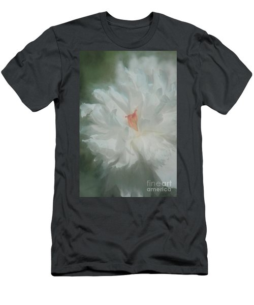 Men's T-Shirt (Slim Fit) featuring the photograph White Peony by Benanne Stiens