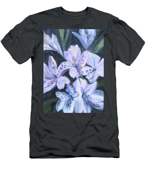 White Peruvian Lily Men's T-Shirt (Athletic Fit)