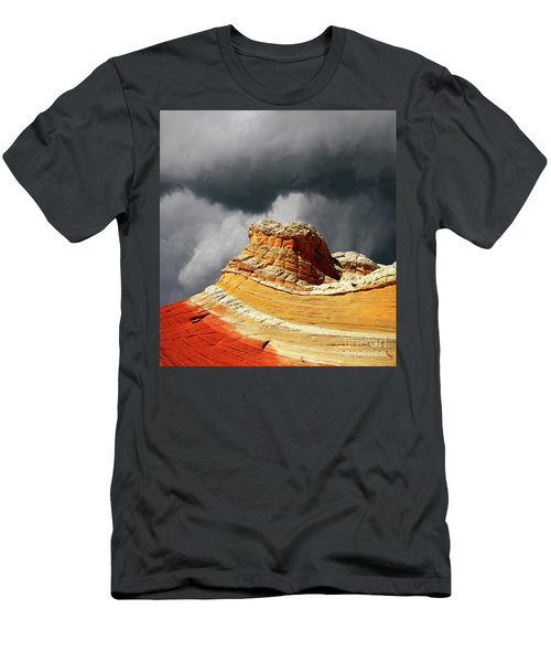 Men's T-Shirt (Slim Fit) featuring the photograph White Pocket 35 by Bob Christopher
