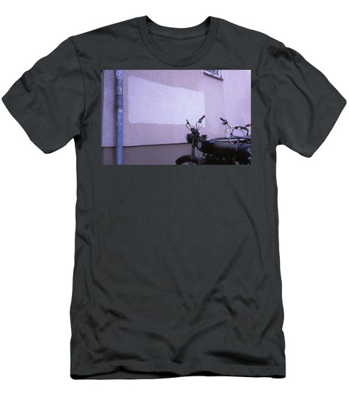 White Rectangle And Vintage Bikes Men's T-Shirt (Athletic Fit)