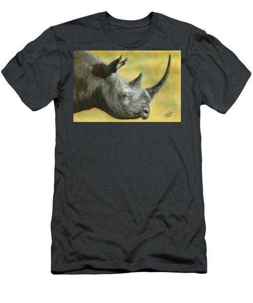 White Rhino Men's T-Shirt (Athletic Fit)