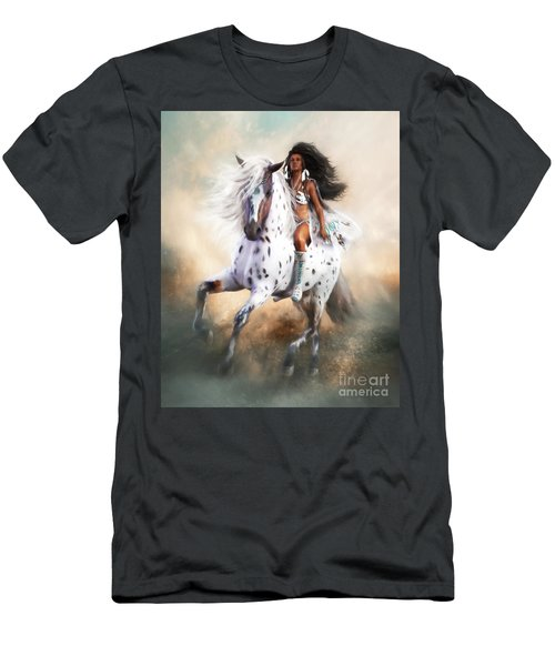 Men's T-Shirt (Slim Fit) featuring the digital art White Storm by Shanina Conway