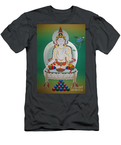 White Tara Men's T-Shirt (Slim Fit) by Sergey Noskov