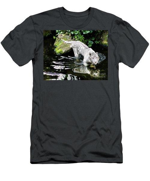 White Tiger Men's T-Shirt (Slim Fit) by M G Whittingham