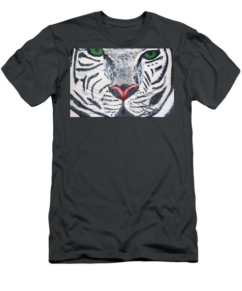 White Tiger Men's T-Shirt (Athletic Fit)