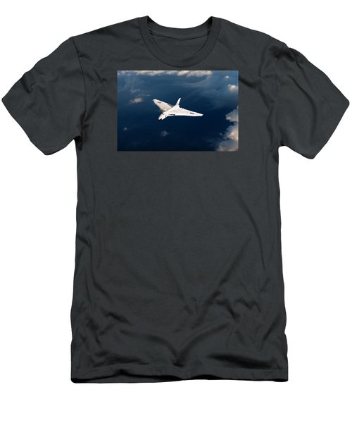 Men's T-Shirt (Slim Fit) featuring the digital art White Vulcan B1 At Altitude by Gary Eason