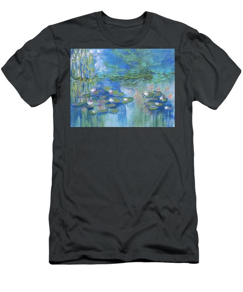 White Water Lilies Men's T-Shirt (Athletic Fit)