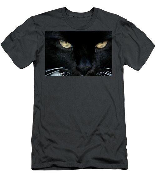 White Whiskers Men's T-Shirt (Slim Fit)