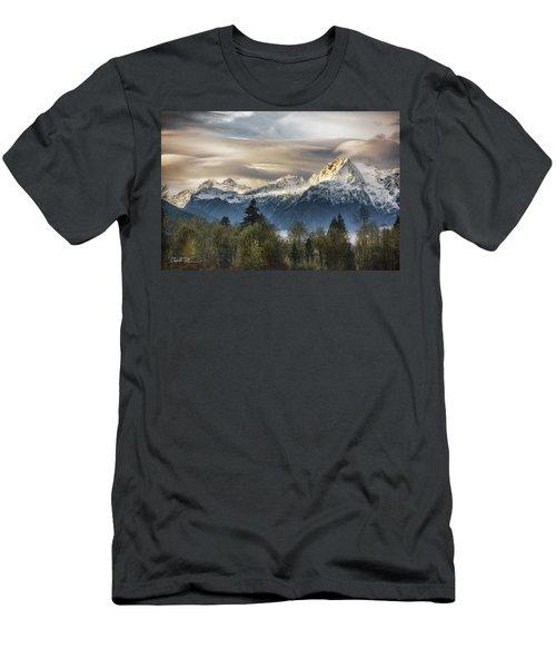 Whitehorse Sunrise, Flowing Clouds Men's T-Shirt (Athletic Fit)