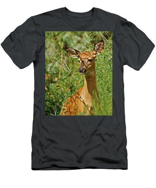 Whitetail Doe Painterly Men's T-Shirt (Athletic Fit)