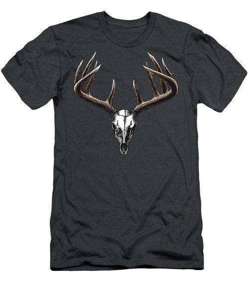 Whitetail Skull Men's T-Shirt (Athletic Fit)