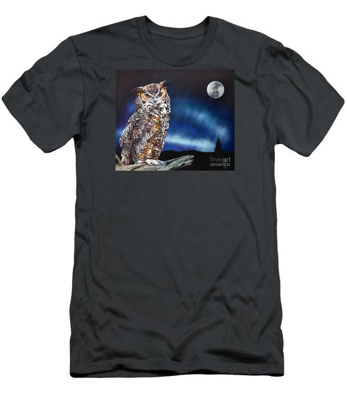 Who Doesn't Love The Night Men's T-Shirt (Slim Fit) by J W Baker