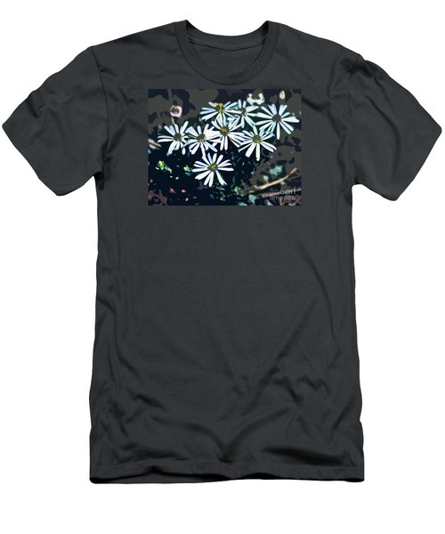 Men's T-Shirt (Slim Fit) featuring the photograph Wild Daisy Art  by Juls Adams